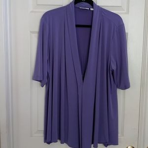 Susan Graver Short Sleeve Open Drape Cardigan